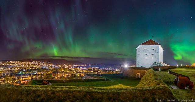 Beautiful Trondheim from Kristiansten Festning (Fortress)