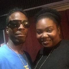 @faharrafvision and Teresa before the interview last night with Radio Memphis. The @ivisiondigital Take Over!  #FFVWORK #TEAMLOVE  IG, @faharrafvision Twitter, @faharrafvision FB, Fa-Harra F. Vision Snapchat, Fa-Harra #SonofAAG  #iVDFAM #FFV #memphisgolda