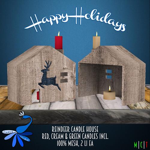 ZcZ Reindeer Candle House Christmas Gift