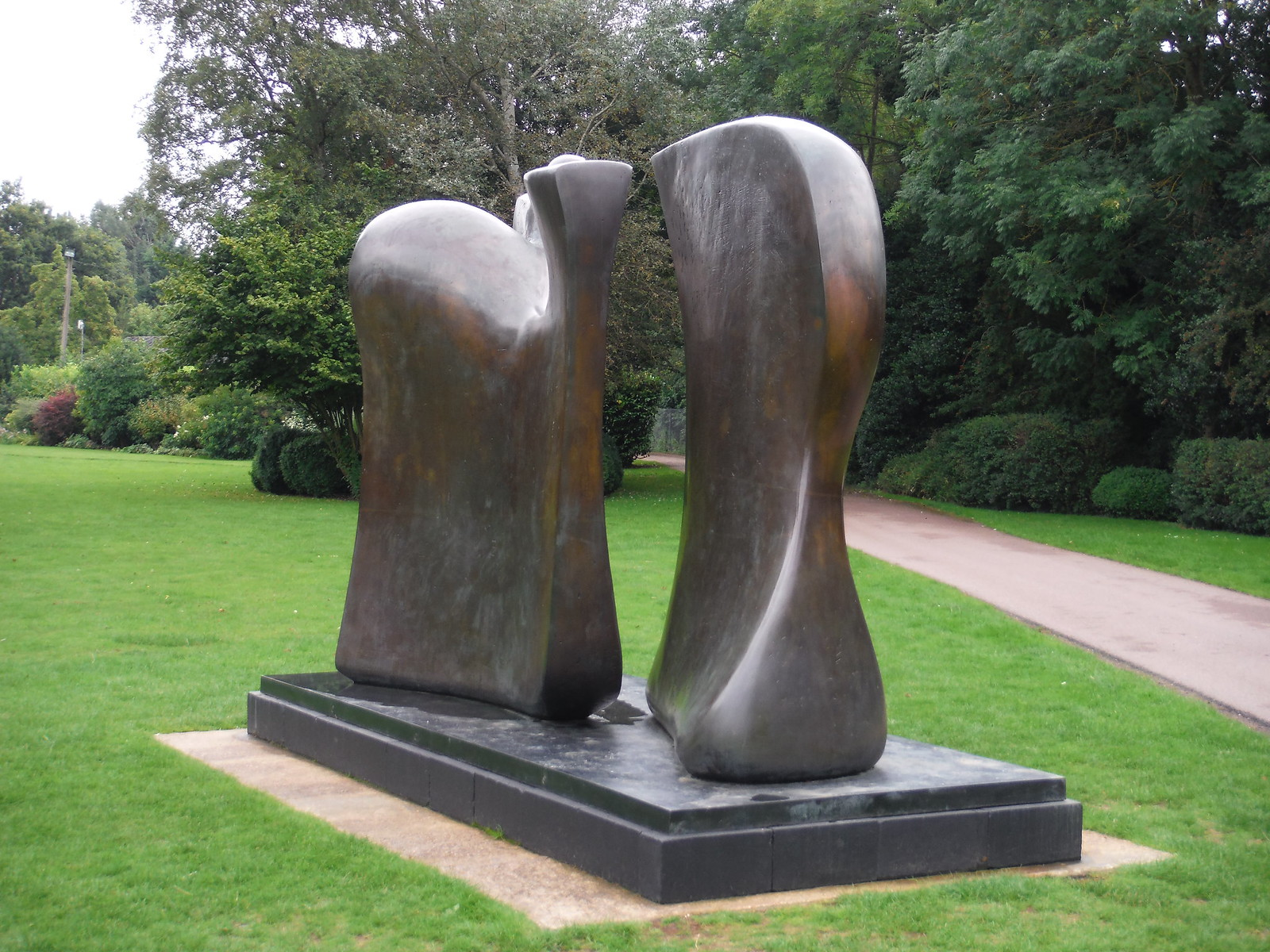 Knife Edge Two Piece (1962-65) SWC Walk 164 Roydon to Sawbridgeworth via Henry Moore Foundation