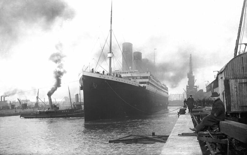 RMS Titanic departing Southampton during her last voyage