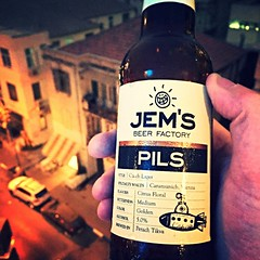 Drinking a Pils by Jem's Beer Factory