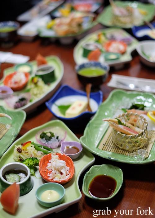 Crab and seafood feast at Kani Honke, Sapporo, Hokkaido