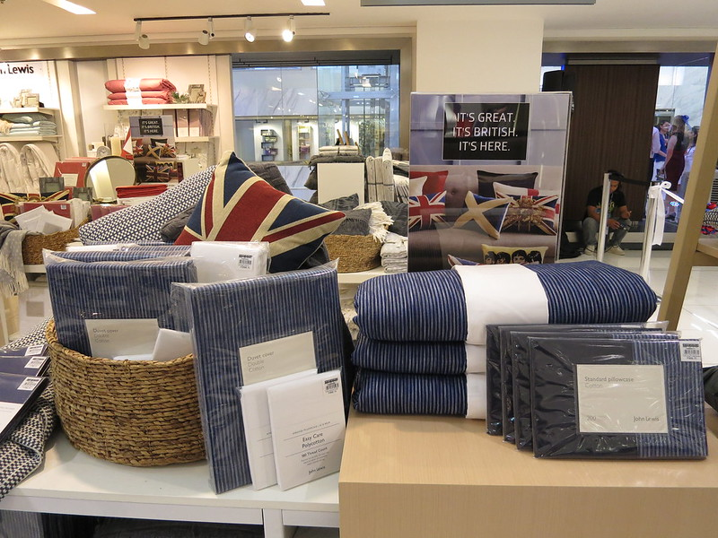 In the Philippines  John Lewis products can be found at SM Stores at Aura   Makati  Megamall and North Edsa  And now John Lewis at SM Home is holding a  sale. Take advantage of the John Lewis sale at SM Home until September