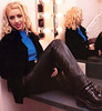 Christina Aguilera in leather pants