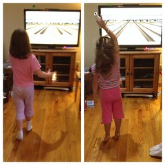 Just a little after #homework #wii #Bowling