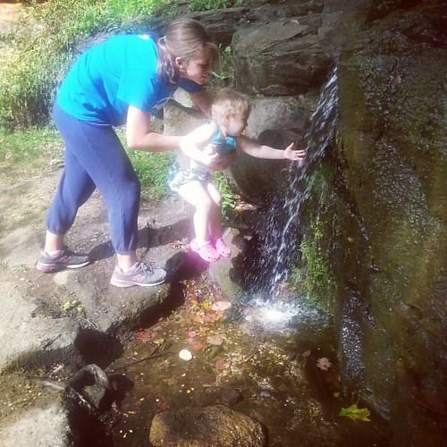 Introducing miss Charlotte to the beauty of the metro parks.