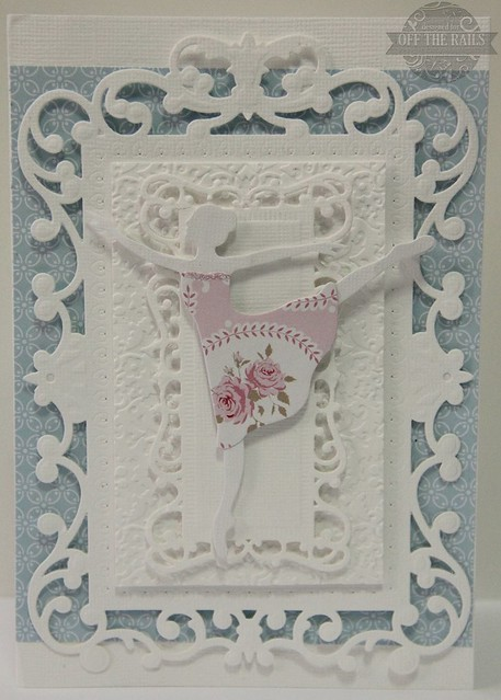 """White Ballerina"" Card"