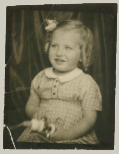 Girl in photobooth