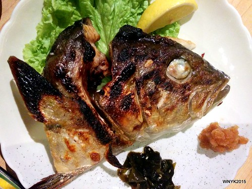 Salt-grilled Amberjack Head