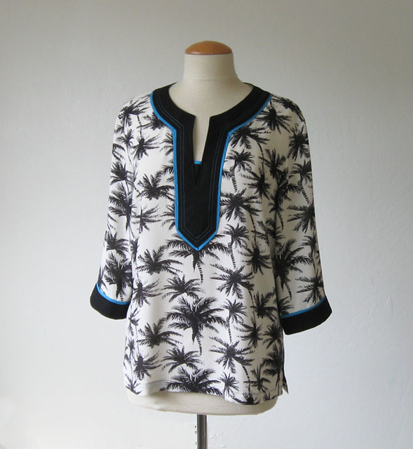 Palm tree tunic on form