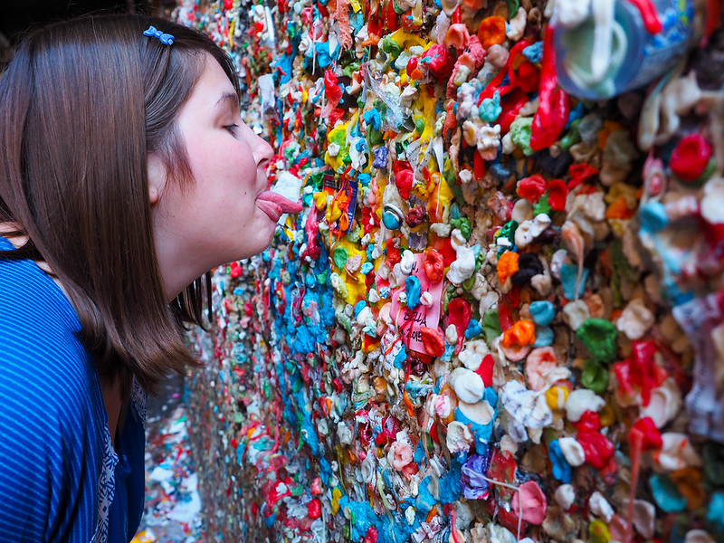 Gum Wall in Post Alley in Seattle