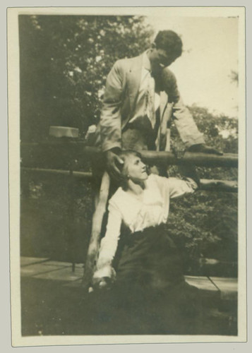 Man and Woman at bridge