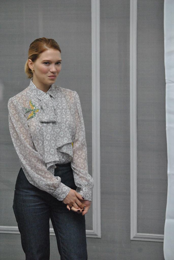 Леа Сейду — Пресс-конференция «007: СПЕКТР» 2015 – 38