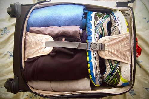 318/365. the conundrum of packing for four days of business travel in the pacific northwest in november as a runner.