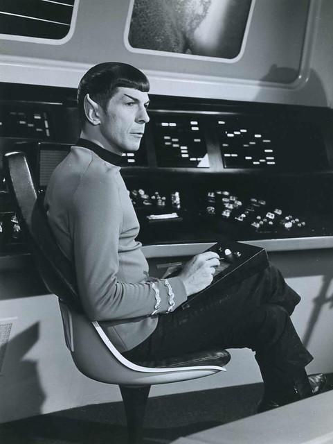 Spock Lenoard Nimoy crossed legs