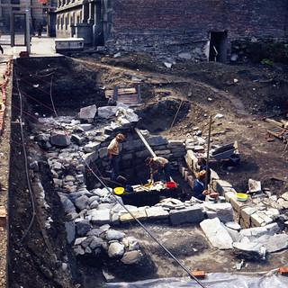 Gregoriuskirken - Arkeologisk utgravning i Søndre gate (1974)