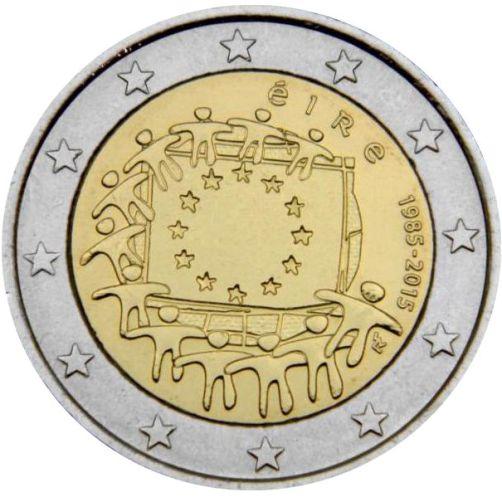 2 Euro Írsko 2012, Vlajka EÚ