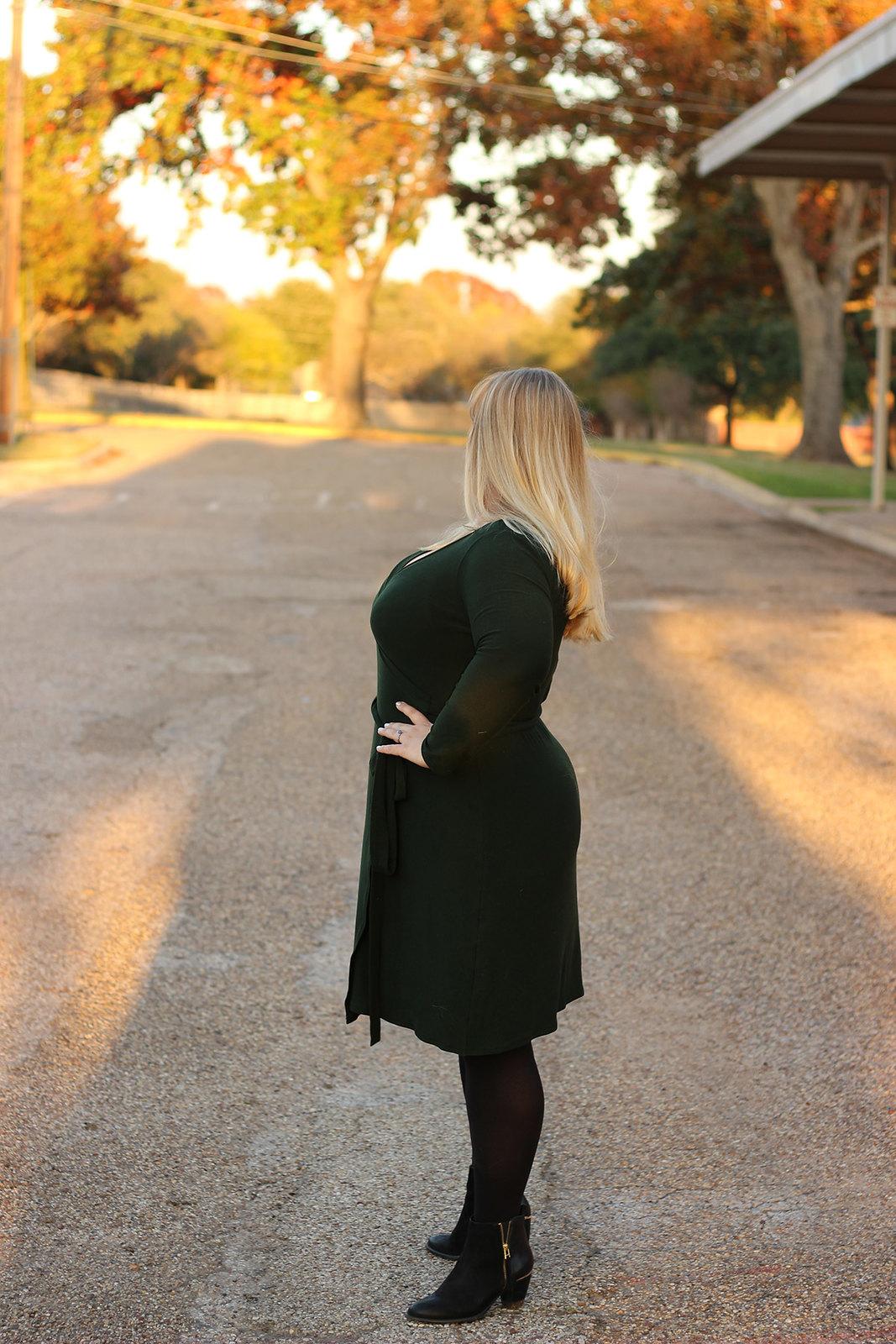 Idle Fancy - Cashmerette Appleton Dress - Green Wool Jersey-1049