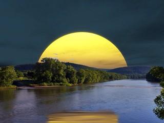 Binghamton New York ~  Susquehanna River ~ Sunset