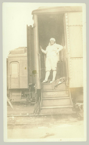 Woman on Railcar