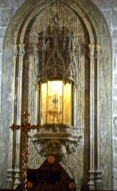 holy grail in Capilla del Santo Cadiz (The Holy Chalice Chapel), valencia cathedral
