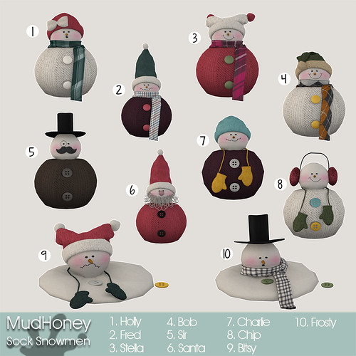 mudhoney sock snowmen key