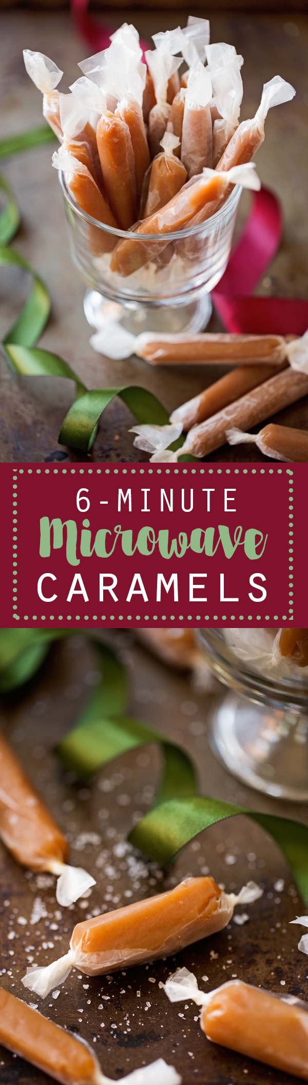 Easy 6-Minute Microwave Caramels - These take just 6 minutes in the microwave and 7 simple ingredients! Chewy Caramels just like Werther's! | #microwavecaramel #caramelchews #caramels | Littlespicejar.com