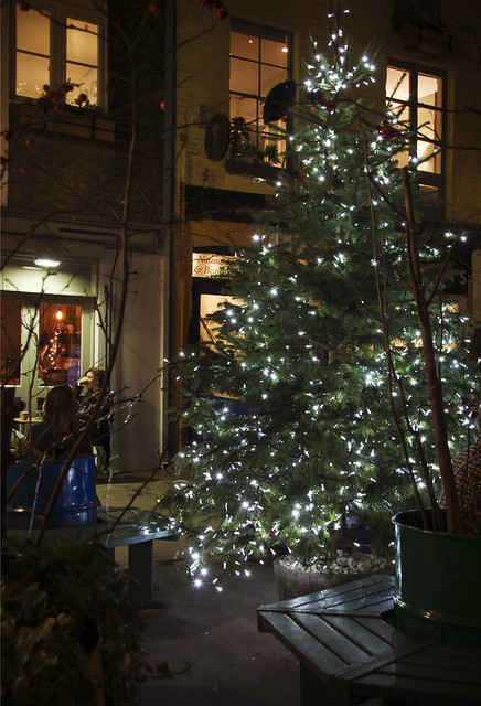 Christmas decoration at Neal's Yard