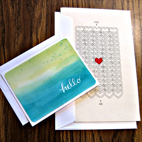 Lemon Street Handmade Hello Card and Valentine