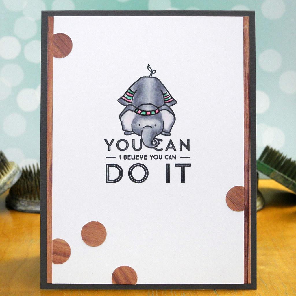 You Can Do It by Jennifer Ingle #SimonSaysStamp #Wplus9 #JustJingle #DearLizzy