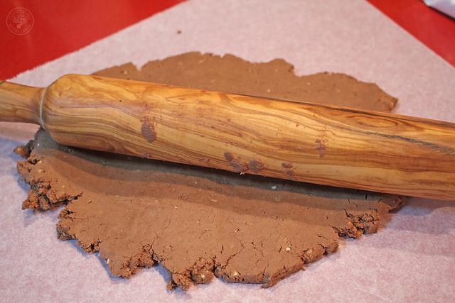 Polvorones de almendra y chocolate www.cocinandoentreolivos.com