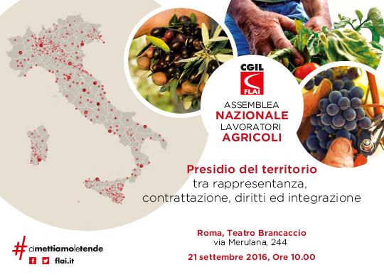 Presidio del territorio tra rappresentanza, contrattazione, diritti ed integrazione, Roma 21 settembre 2016