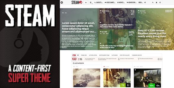 Steam v1.12 - Responsive Retina Review Magazine Theme