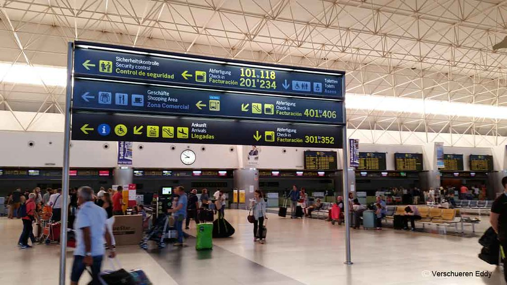 Departure hall at Gran Canaria Airport
