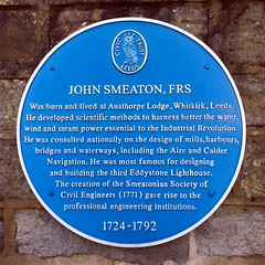 Photo of John Smeaton blue plaque