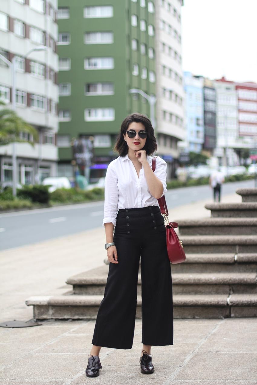 combinar pantalones culotte años 70 streetstyle myblueberrynightsblog
