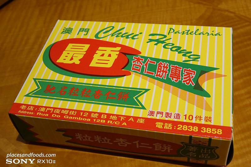 chui heong almond cookies box