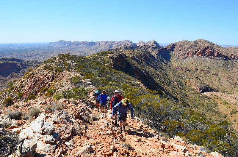 Approaching Brinkley Bluff - Larapinta Trail