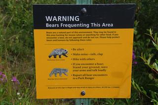 115 Waarschuwing beren