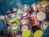 cans on Fuji Superia Xtra 400 120 film by FILM...SOUND...COLOR