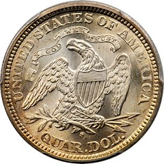 1874-S Liberty Seated Quarter reverse
