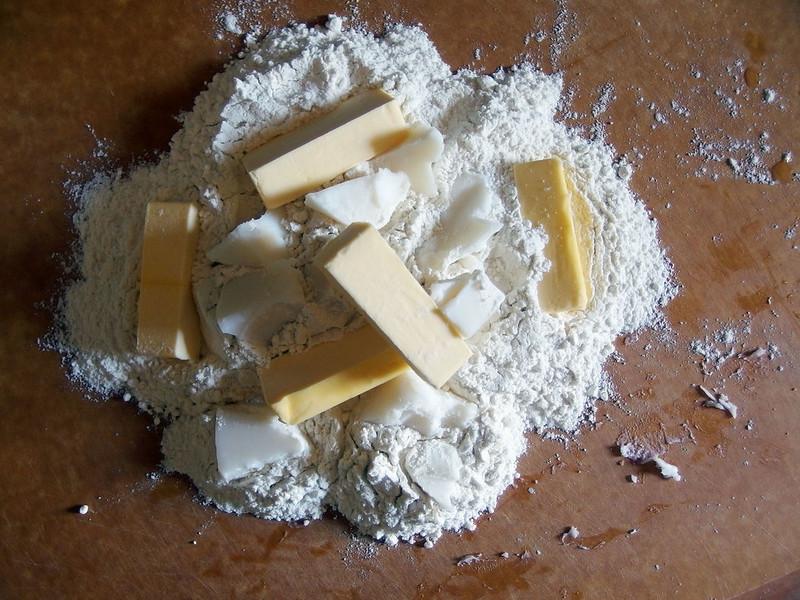 Butter, lard, flour