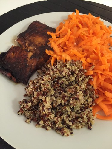 Quinoa och lax