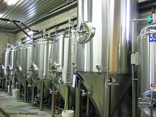 Block Three fermentation tanks