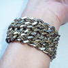 Vintage Goldtone Multi-Chain Bracelet - Wide, Heavy, Thick Chain