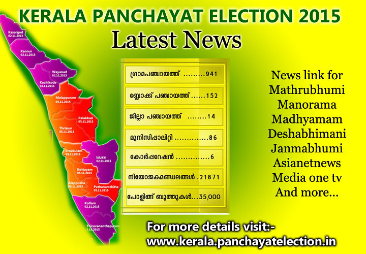 kerala panchayat election 2015 latest news