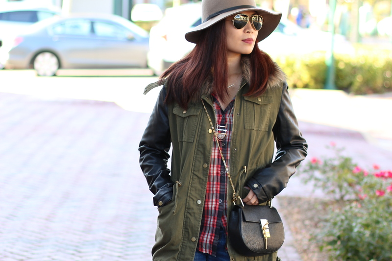 Fall-Fashion-fedora-plaid-faux-fur-chloe-bag