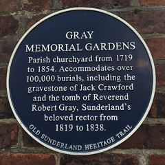 Photo of Gray Memorial Gardens, Jack Crawford, and Robert Gray blue plaque