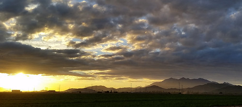 morning arizona clouds sunrise golden sierraestrellamountains